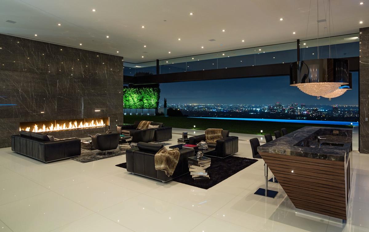 interieur met panorama uitzicht