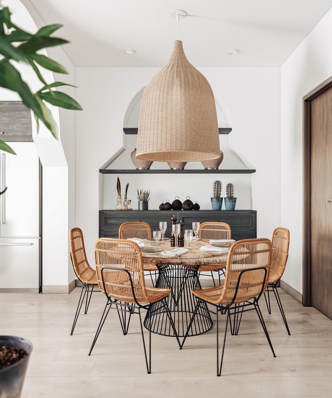 interieur ontwerp eetkamer oversized lamp