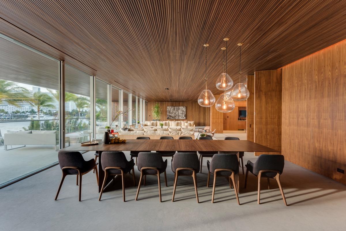 interieurontwerp eetkamer plafond