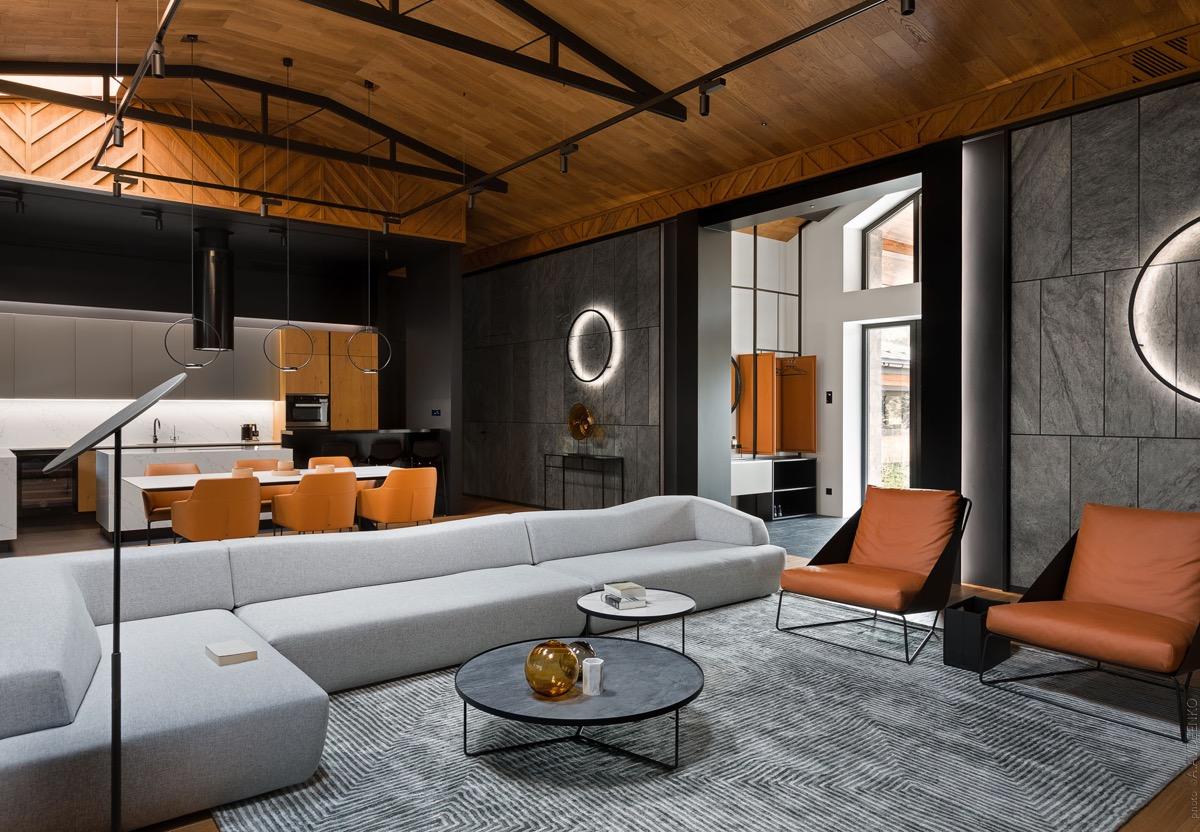 interieurs met donkere wanden
