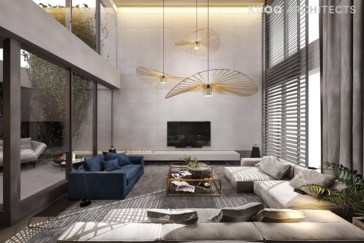 interieurs met meerdere lampen